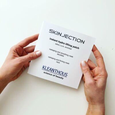 Kleanthous SKINJECTION instant hydro lifting patch- extra hidratáló-ránctalanító hatású lapmaszk nyakra dekoltázsra
