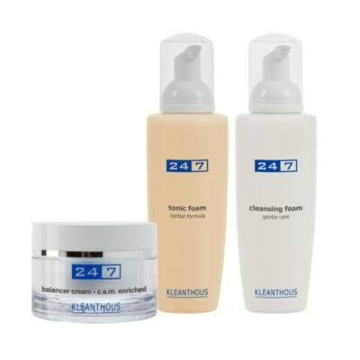 Kleanthous 24/7 Kombinált bőr csomag Balancer krém és Tonik hab és Tisztító